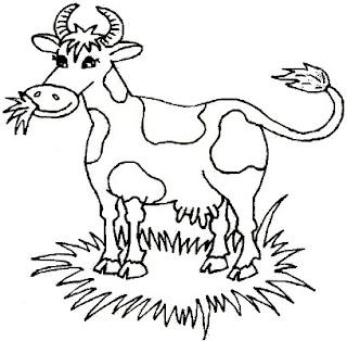 Vaca para colorear pintar