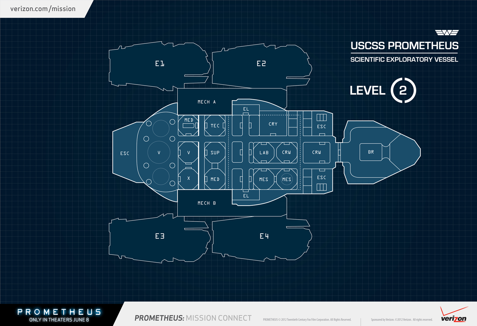 Awesome Prometheus Deck Plans And Interior Shots!