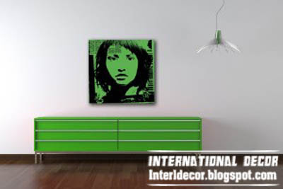 green pop art painting, unique pop art painting colors