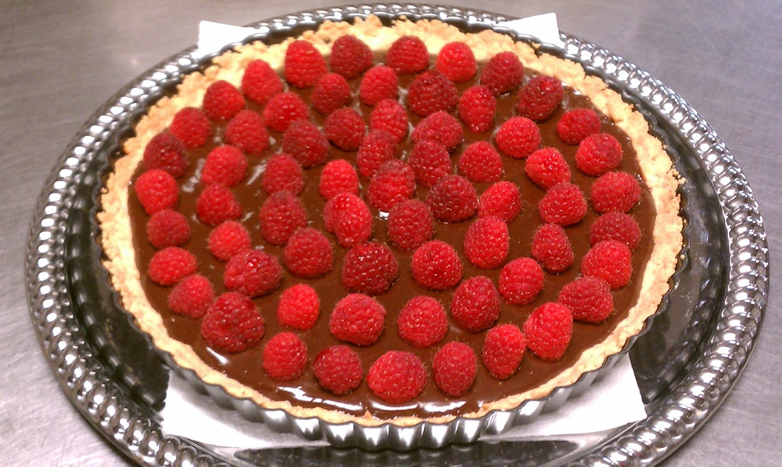Chocolate Almond Raspberry Tart - St Francis Inn Bed and Breakfast