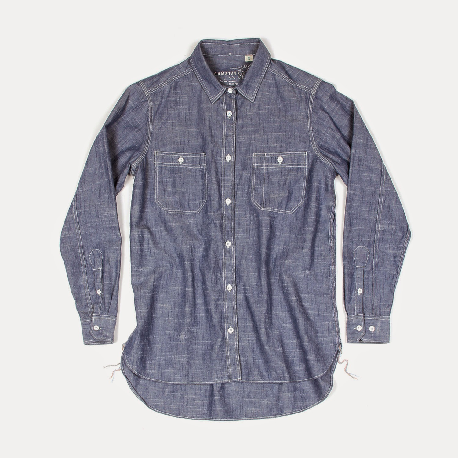 organic cotton selvage chambray