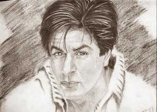 Lukisan Gambar Shahrukh Khan