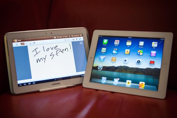 i love my s pen 8426 610x407 Apple iPad 4 vs Samsung Galaxy Note 10.1: il nostro confronto video