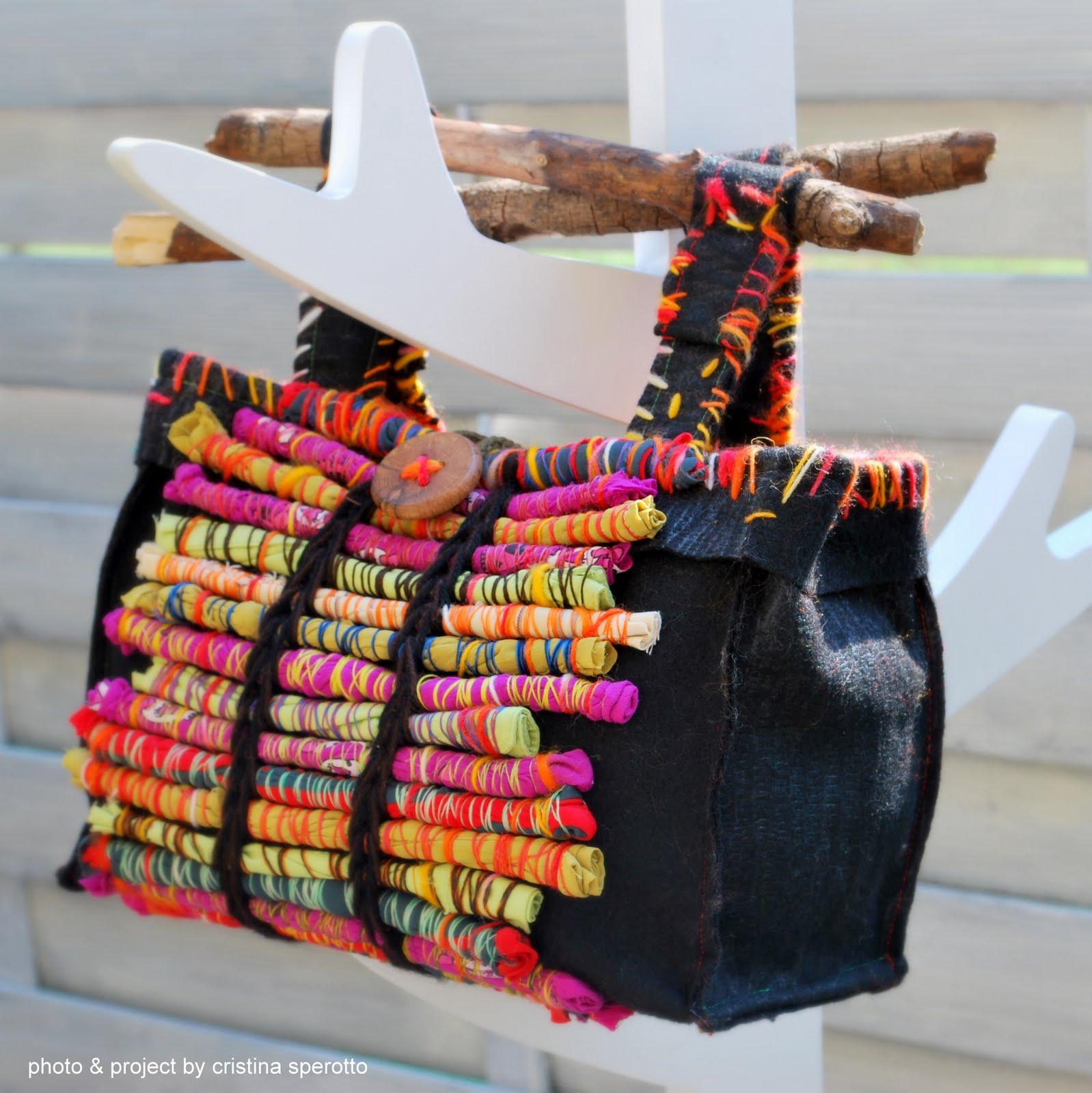 ork 39 idea atelier eco borsa in tessuto riciclato natura
