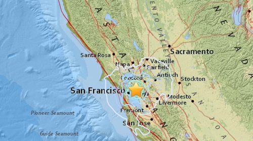 bay area earthquake map