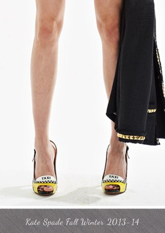 Kate Spade Taxi Shoes from Fall Winter 2013-14