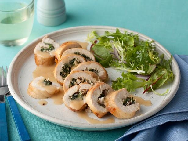 Spinach and Mushroom Stuffed Chicken Breasts Recipe