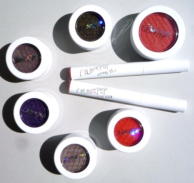 ColourPop makeup: Lippie Stix, Super Shock Shadow and Cheek