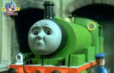 Island of Sodor water tower Thomas and friends Percy the tank engine railway driver looked so glum