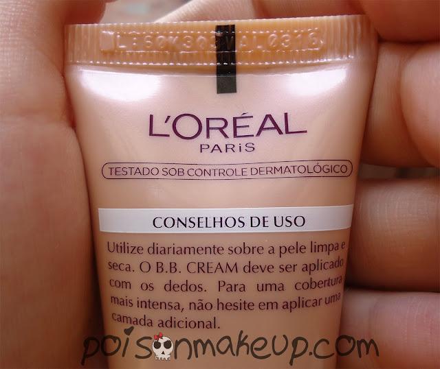 Conselhos de uso bb cream L'Oréal