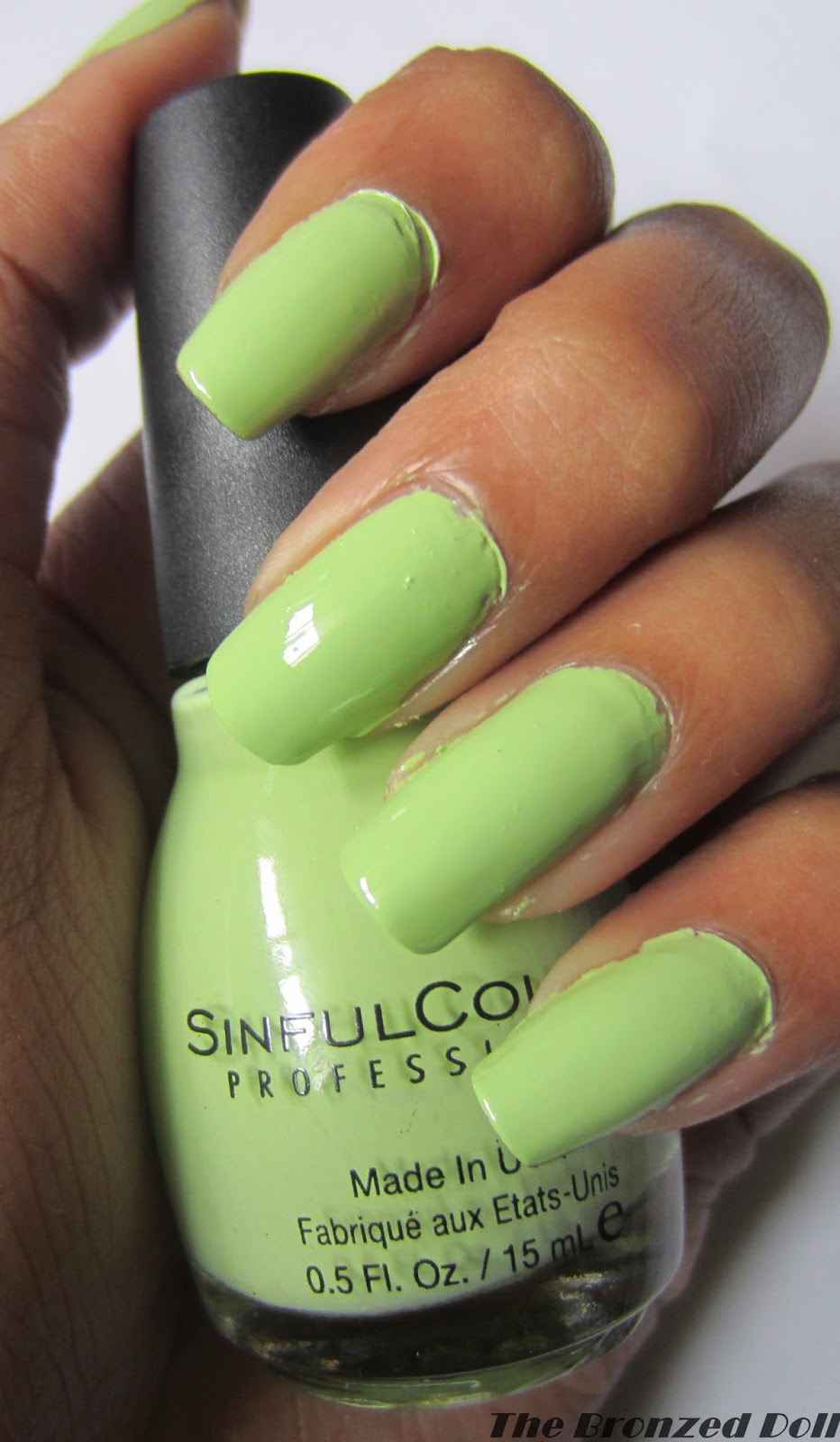 sinful colors song of summer nail polish pastel green