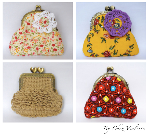 Handmade retro purse coin by Chez Violette