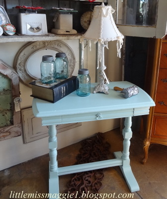 Littlemissmaggie pretty aqua trestle table for Pretty html table
