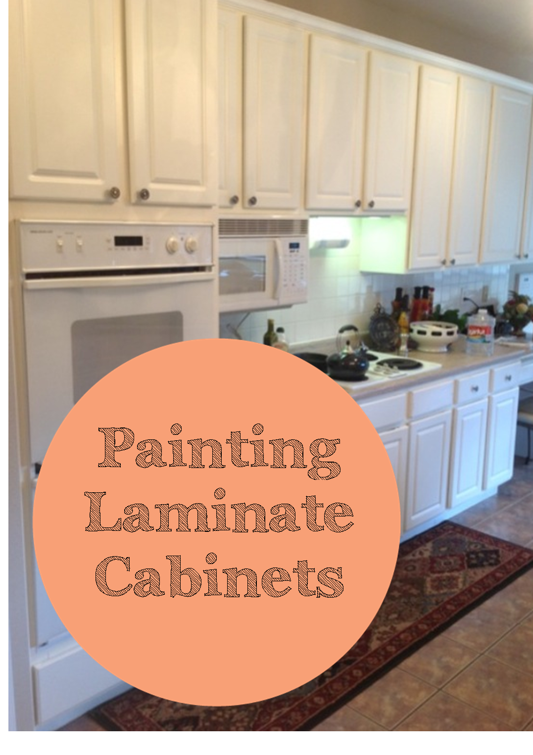 The ragged wren painting laminated cabinets for Kitchen cabinets laminate