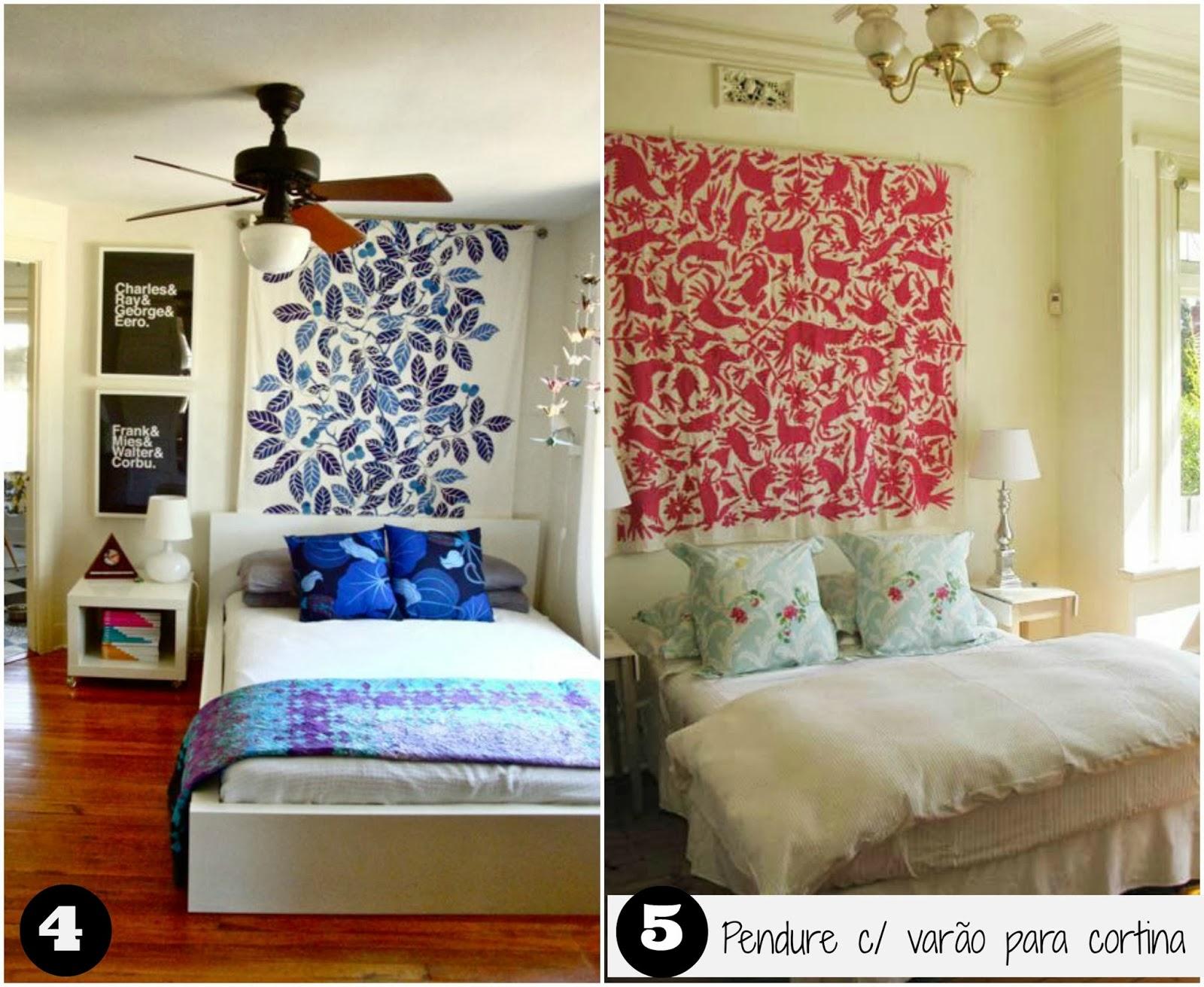 Casa montada 18 ideias para decorar a cabeceira com tecido - Decorar camas ...