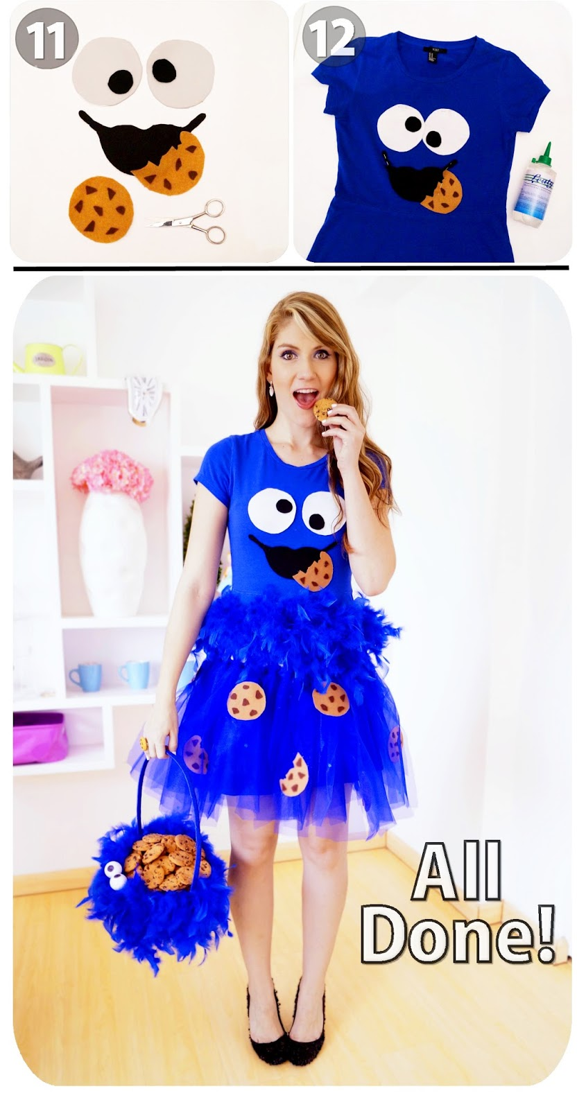 Cookie Monster Costume Tutorial, Part 3