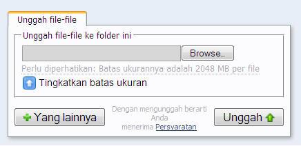 upload file di 4shared