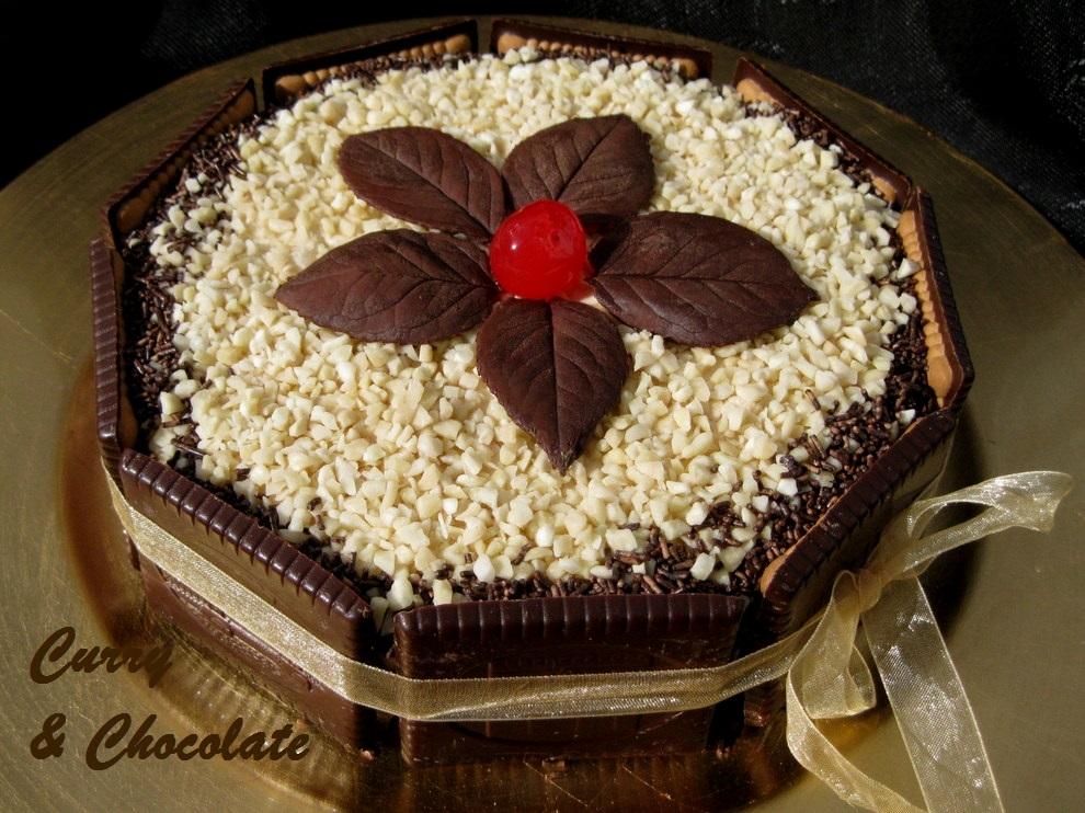 Tarta de Navidad mousse de turrónJijona - Nougat mousse cake for Christmas