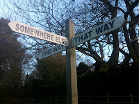 Señal indicativa de varios caminos