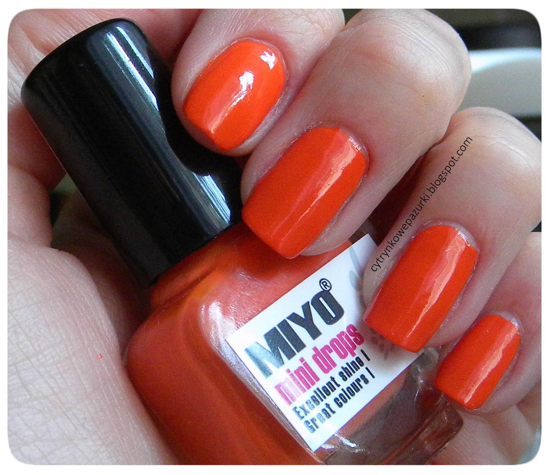 Poniedziałki z Miyo Mini Drops Pure Orange 163 i Crystal&Peach 164