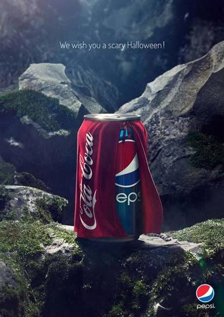 publicidad, Halloween, 2013, Pepsi, Coca Cola