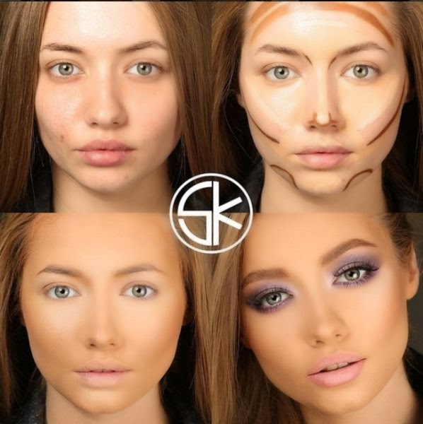 Как с помощью косметики сделать лицо