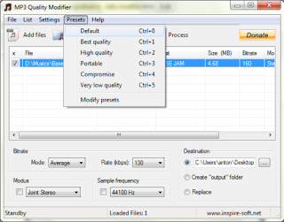 mp3 quality modifier preset Meningkatkan Kualitas MP3 Dengan MP3 Quality Modifier