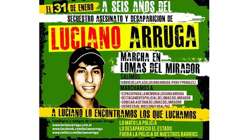 A 6 años de la desaparición y asesinato de Luciano Arruga   8fa00386bd8