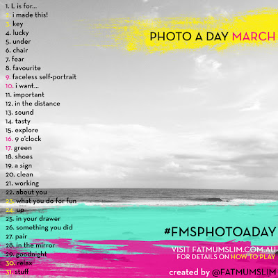 Photo a day March List