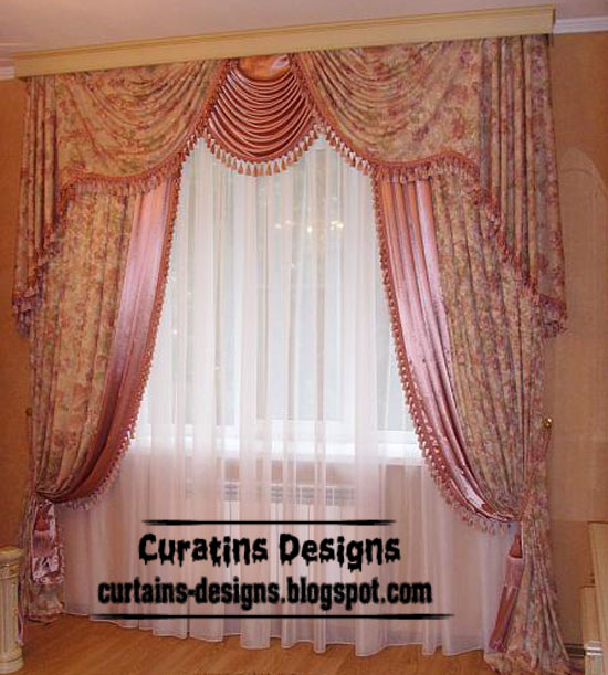 dream bedroom drapery curtain design patterned pink curtain