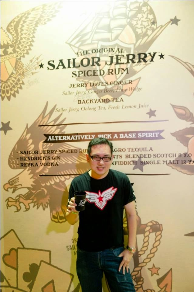 Just me having a cup of Sailor Jerry Spiced Rum