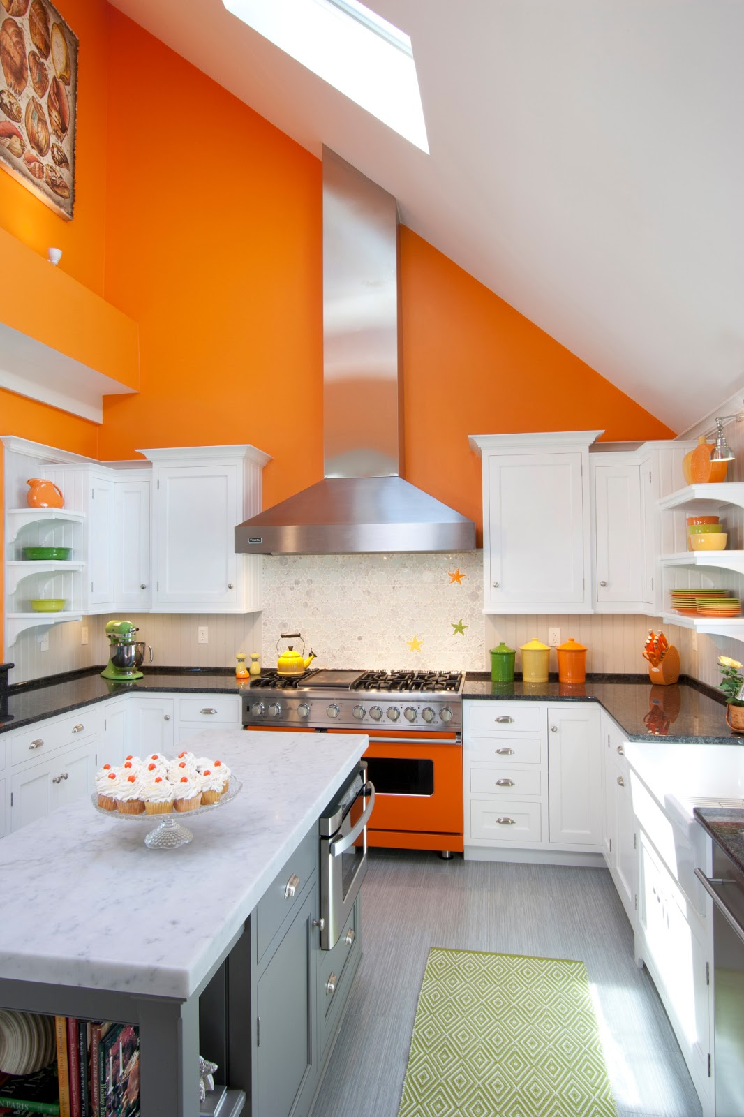 Orange Kitchens Covenant Kitchens Baths Inc Bringing The Sunshine In