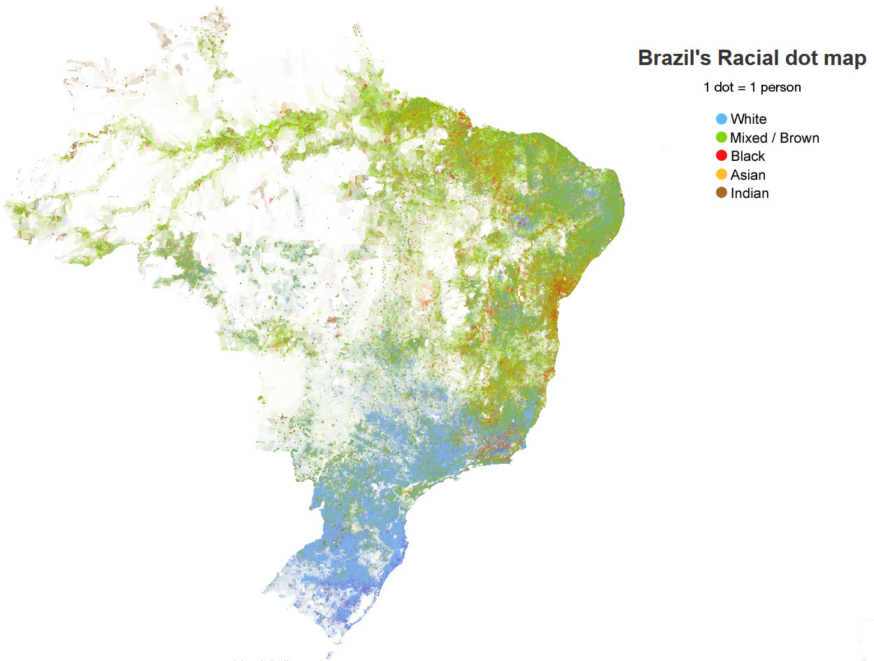 Brazil's racial dot map