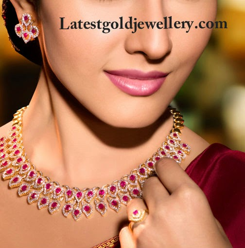ruby and diamonds necklace