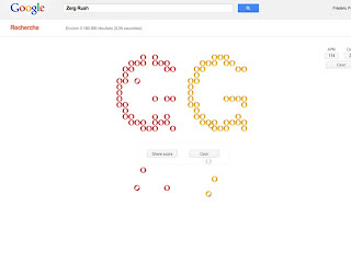 Easter egg: Google and Zerg Rush