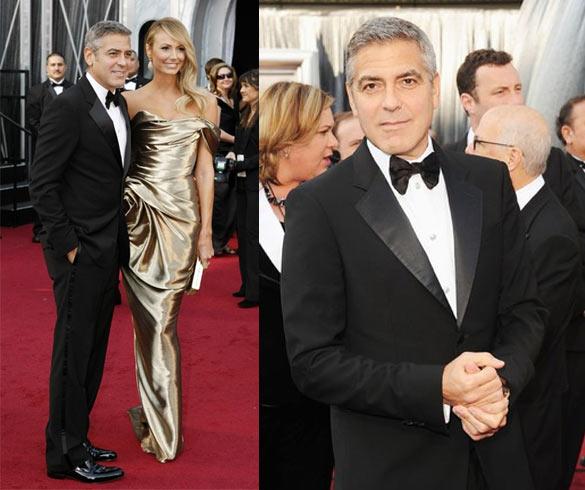 George Clooney e Stacey Keibler Oscar 2012