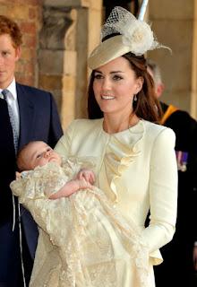 Kate Middleton em 2013 com o bebê
