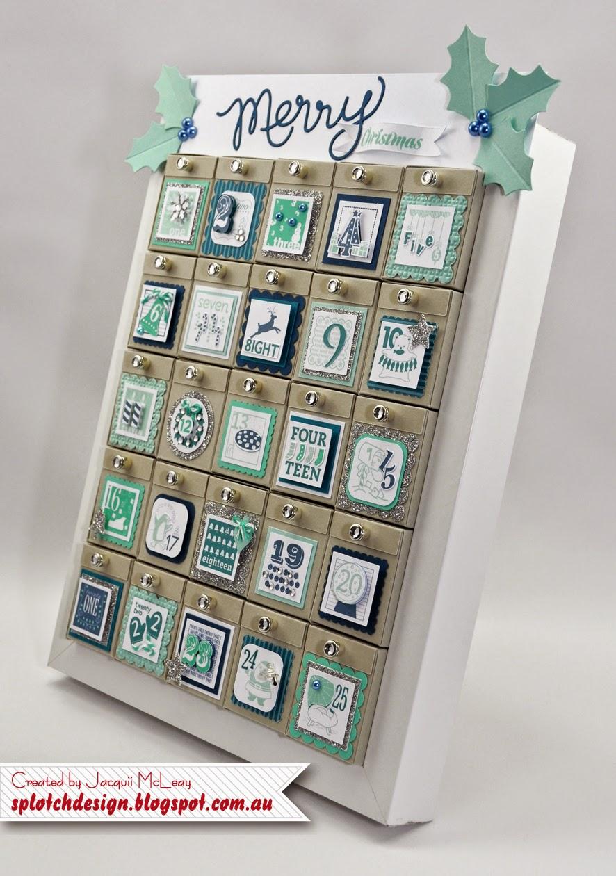 Calendar Design Tutorial : Splotch design independent stampin up demonstrator