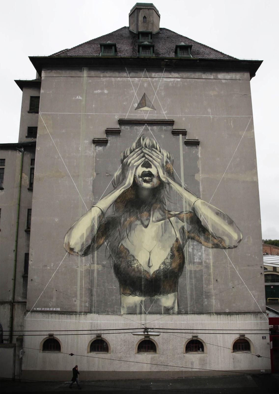 Faith47 new mural in vienna austria streetartnews for Mural street art
