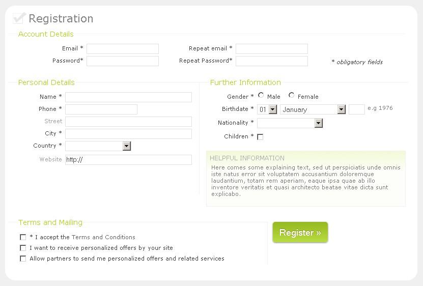 Formulario de Registro sofisticado con HTML y CSS