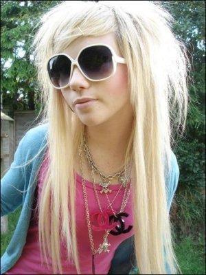 Long Blonde Emo Haircuts