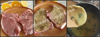 Braciole di maiale con salsa all'arancia ricetta veloce