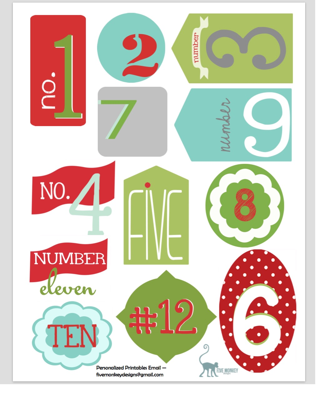 picture relating to 12 Days of Christmas Printable Tags identify Free of charge 12 Times of Xmas Printable Tags By way of 5 Monkey