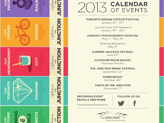 Toronto Junction BIA 2013 Calendar of Events, image by thejunctionbia.ca