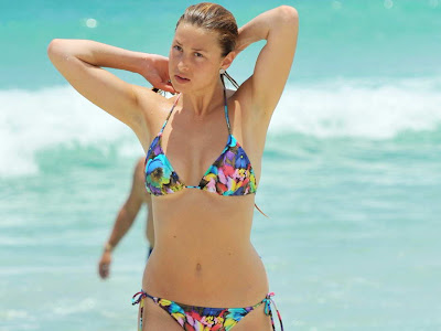 Whitney Port in floral bikini with well honed figure