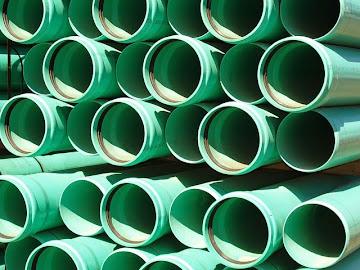 Green PVC Pipe