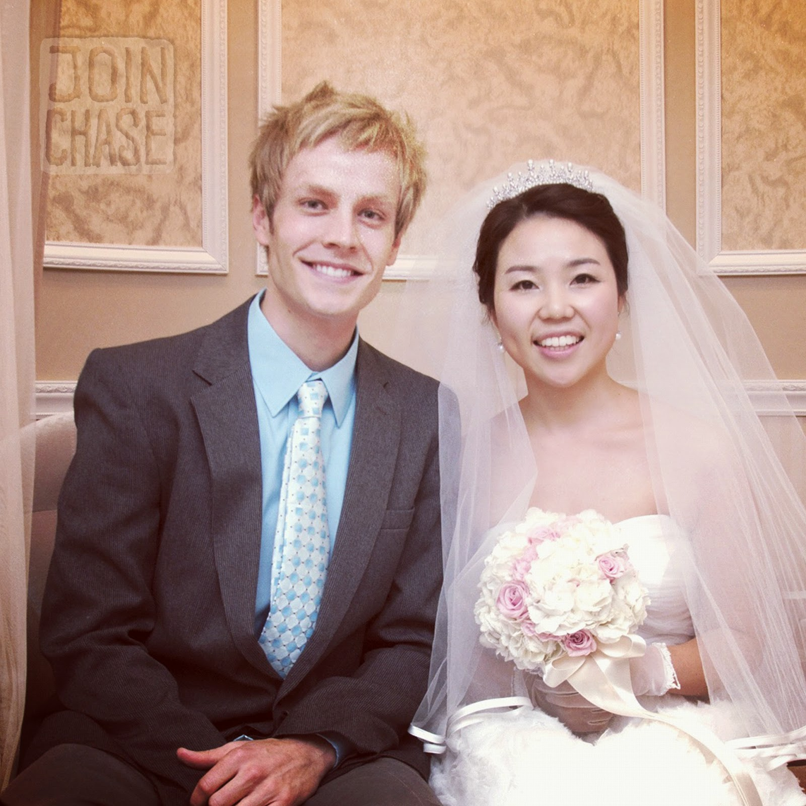 With the beautiful bride of a Korean wedding in Cheongju, South Korea.