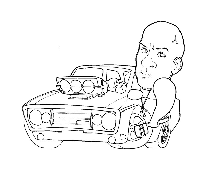 free coloring pages of fast and the furious 7