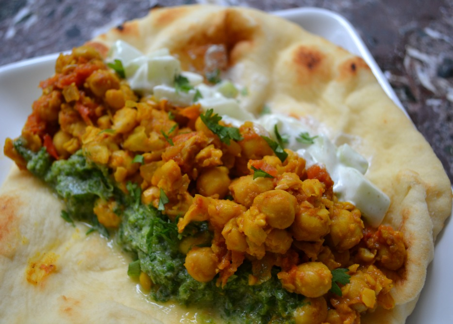 ... Smashed chickpeas on naan with cilantro-mint chutney, #SeriousSandwich