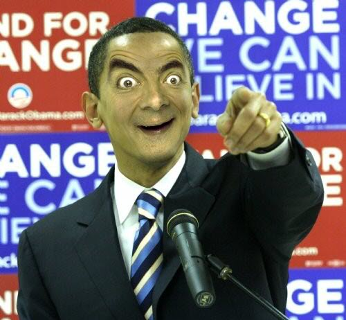 mr. bean in funny faces